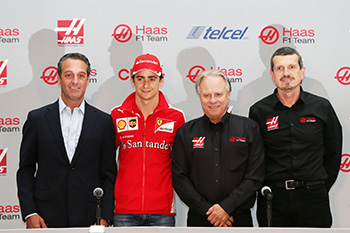 photo is credited to Haas F1 Team