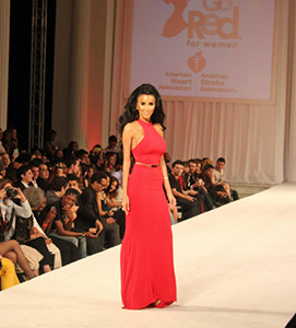 Celebrities Go Red For The American Heart Association At LA Fashion Week